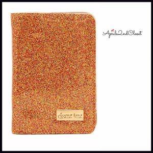 DEUX LUX GLAM GLITTER PASSPORT WALLET